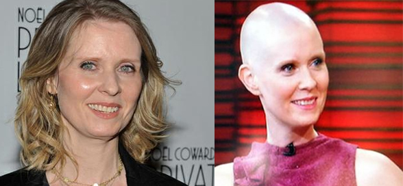 "Cynthia Nixon, de ""Sex and the City"", Fica Careca Para Peça de Teatro!"