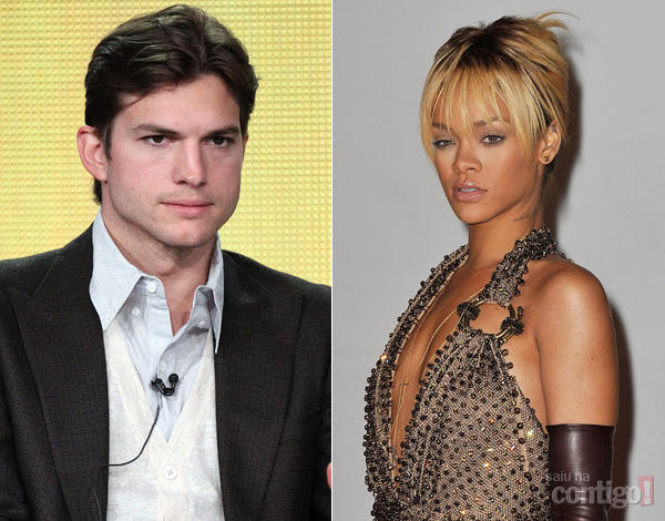Ashton Kutcher e Rihanna Estariam