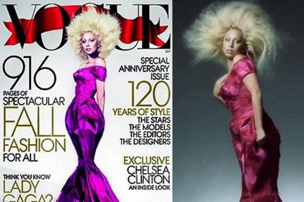 Veja Foto de Lady Gaga sem Photoshop na Capa da Revista Vogue